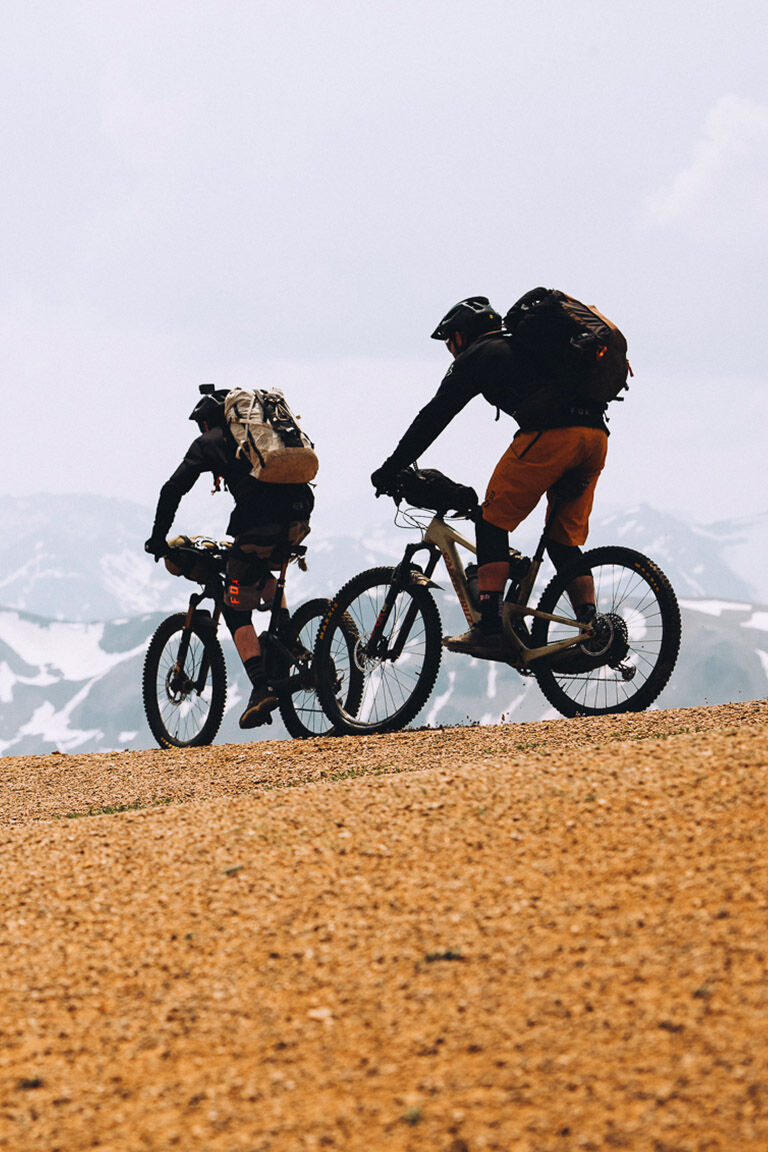 Riders cruising the Backcountry in New Fox gear